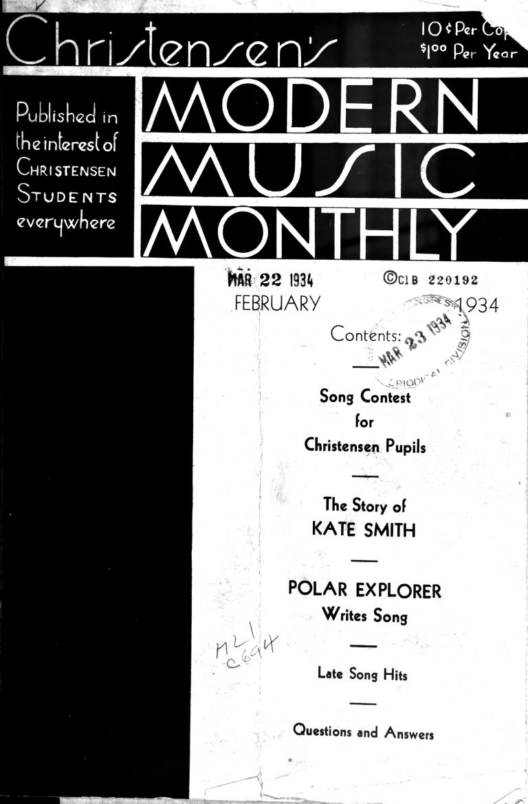 Christensen's Modern Music Monthly