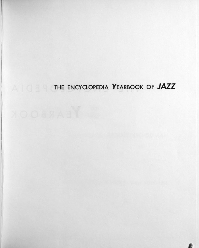 Encyclopedia Yearbook of Jazz