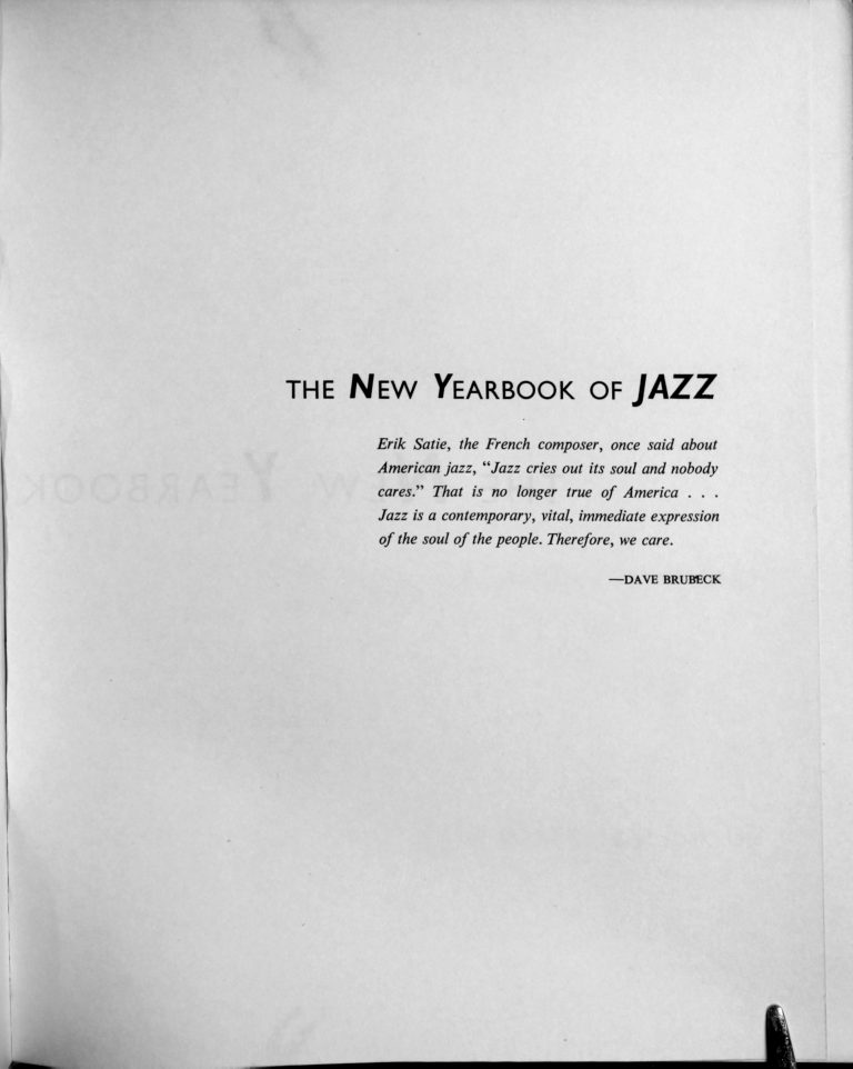 New Yearbook of Jazz