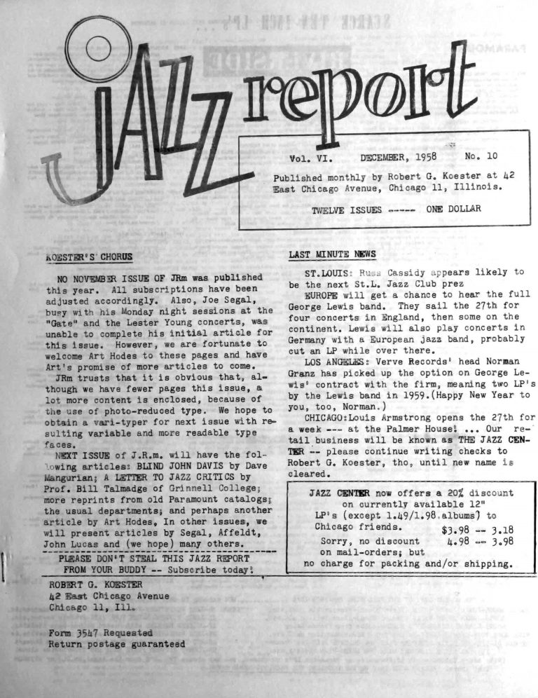 The Jazz Report
